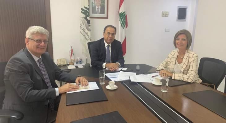 بطيش استقبل الضيقة وممثل منظمة الاغذية والزراعة للامم المتحدة بلبنان