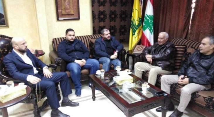 ضاهر بحث مع وفد فلسطيني الهجمة الدولية المنظمة لتصفية القضية الفلسطينية