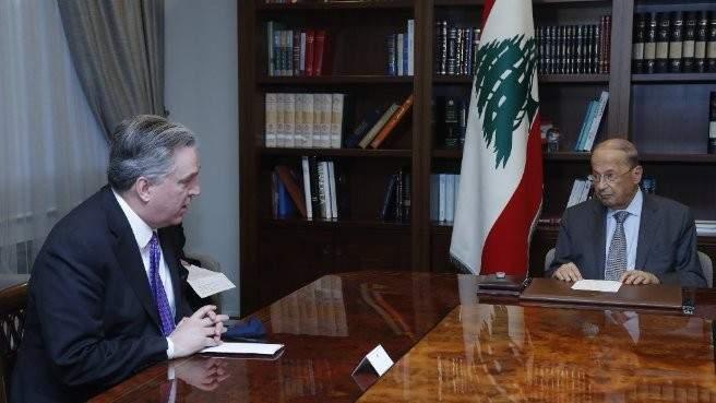 الرئيس عون التقى رئيس الوفد الاميركي الوسيط في مفاوضات الترسيم