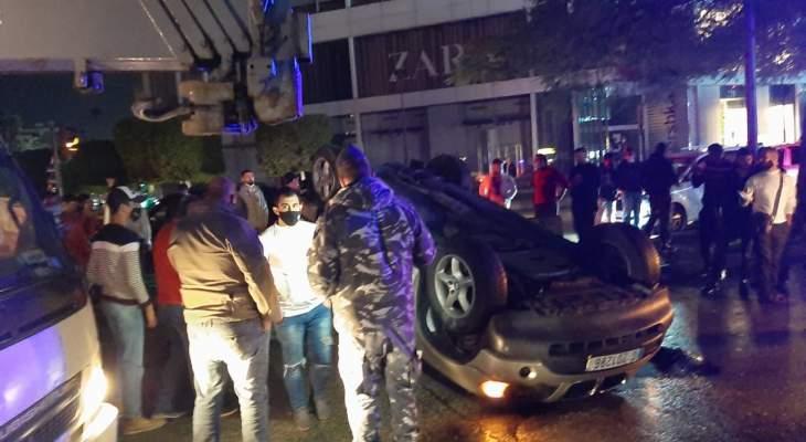 النشرة: ثلاثة جرحى نتيجة حادث سير على تقاطع ايليا في صيدا