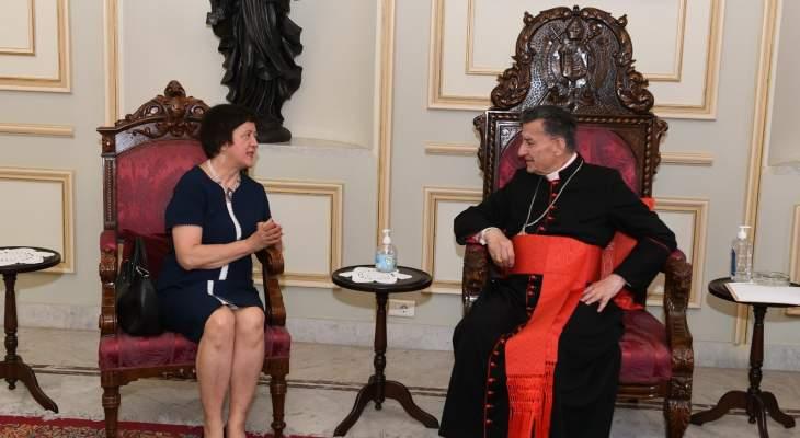 فرويتسكا زارت الراعي: اتفقنا على الحاجة لحلول عاجلة للتخفيف من هموم اللبنانيين