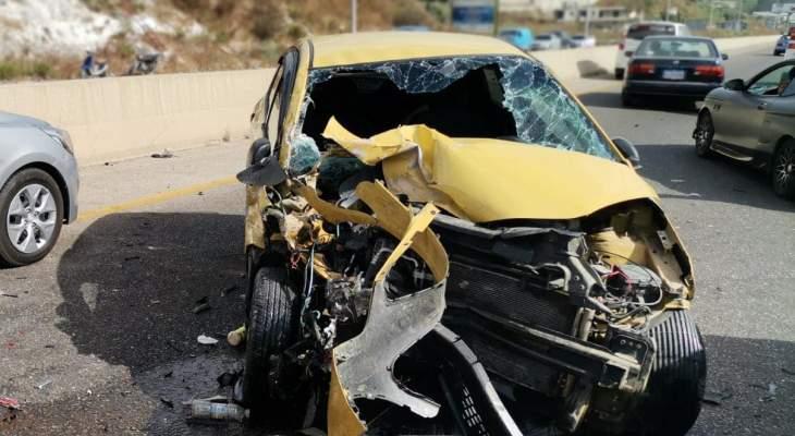 الدفاع المدني: 3 جرحى جراء حادث سير على أوتوستراد صيدا- صور