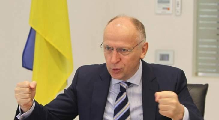 سفير أوكرانيا في لبنان:اللبنانيون مثلنا يبحثون عن الحرية بالمقام الأول