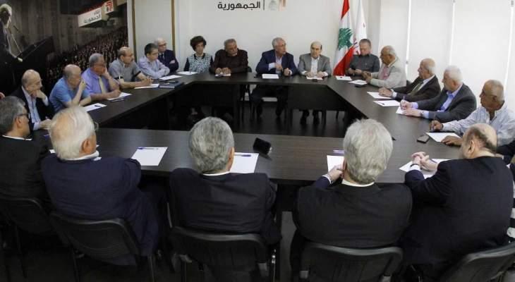 لقاء الجمهورية: للتمسك بحرفية الدستور لناحية رفض التوطين خدمةً للبنان وفلسطين معاً