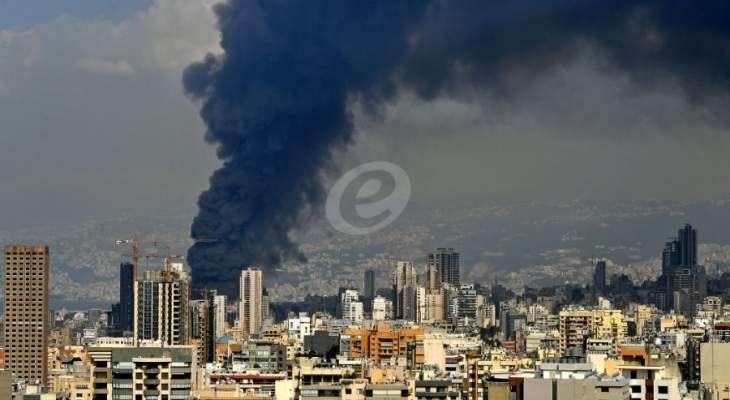 عويدات أحال ملف حريق مرفأ بيروت على النيابة العامة لعدم ارتباطه بالانفجار