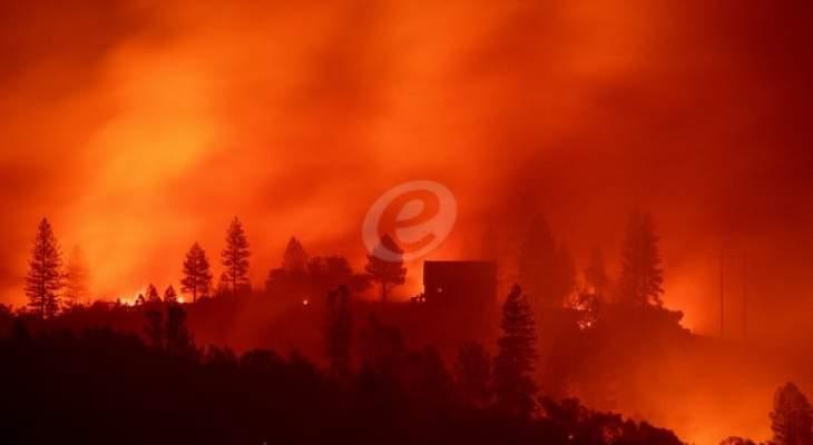 حرائق كاليفورنيا تقضي على الاشجار وتسبب بانهيار العديد من المنازل