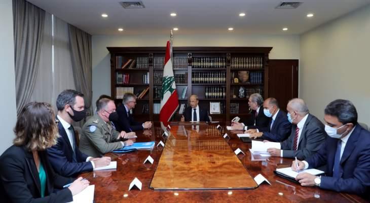 الرئيس عون أكد لوكيل الأمين العام للأمم المتحدة رغبة لبنان في التمديد للقوات الدولية