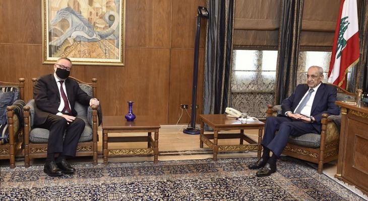 بري بحث مع سفير تركيا الجديد في لبنان الاوضاع العامة في لبنان والمنطقة