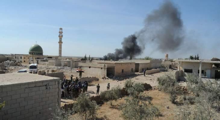 النشرة: المسلحون استهدفوا المدنيين بقذائف صاروخية بلدتي جورين والجيد بريف حماة الشمالي