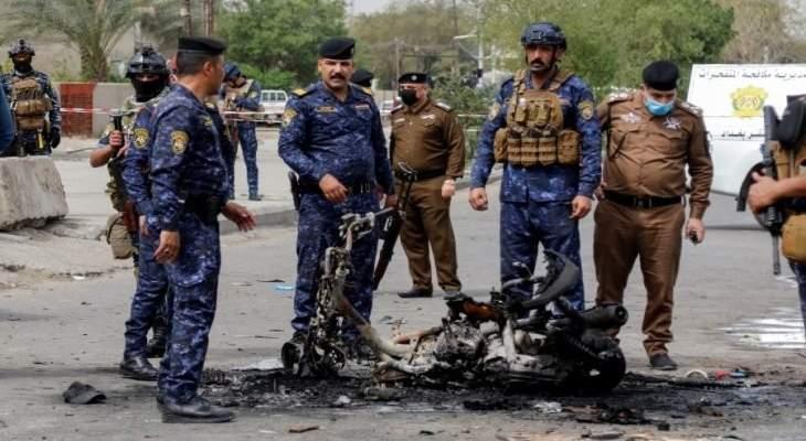 قتيل و4 جرحى بانفجار دراجة مفخخة في بغداد