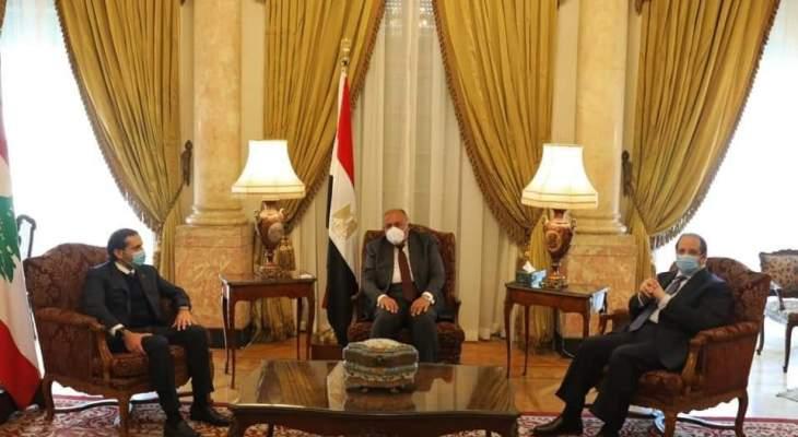 الحريري عرض مع أبو الغيط وشكري الاوضاع ومستجدات تشكيل الحكومة