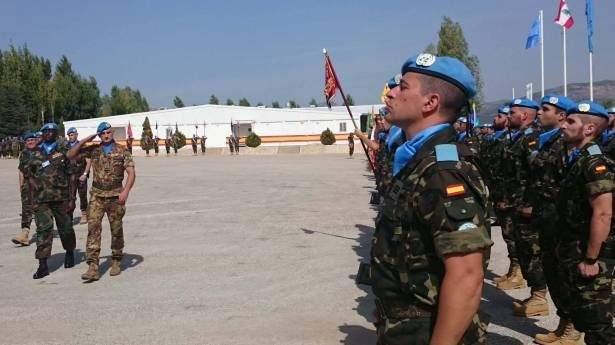 الكتيبة الاسبانية اجرت دورة تدريبية على التعقيم لعناصر الدفاع المدني