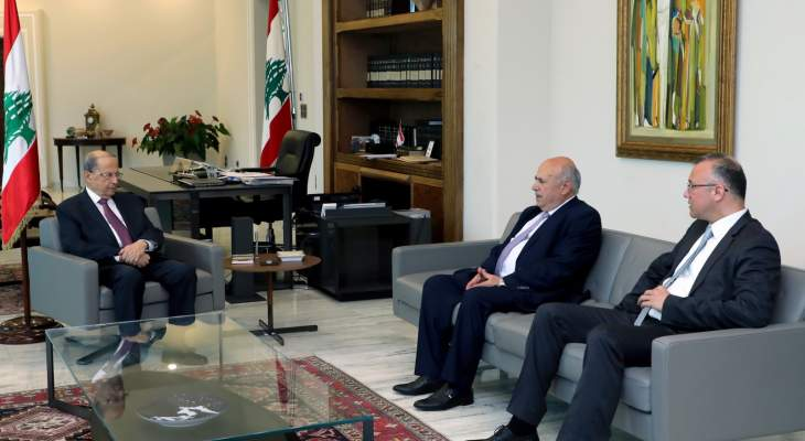 عون عرض مع حسين ودرويش لأوضاع عكار وطرابلس والتقى سفير سلوفاكيا لمناسبة انتهاء عمله