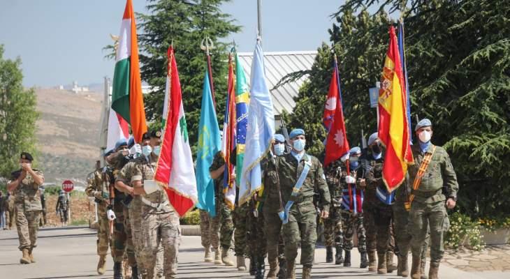 تسليم وتسلم للسلطة بقيادة الكتيبة الإسبانية في إبل السقي بين الوحدات المغادرة وتلك الآتية