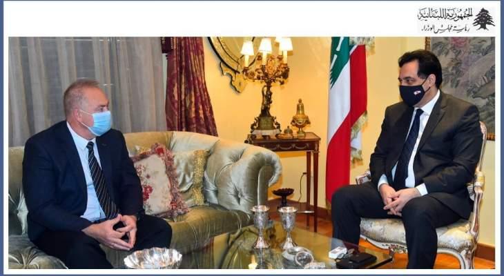 دياب استقبل السفير الروسي في لبنان وبحث معه العلاقات الثنائية بين البلدين