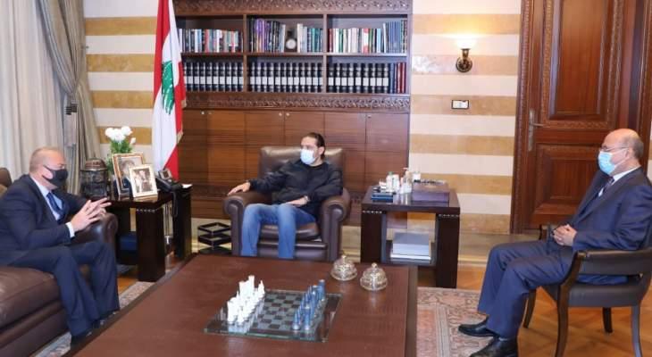 الحريري بحث مع روداكوف في التطورات السياسية والتقى هزيم