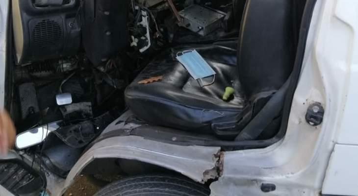 الدفاع المدني: جريح إثر حادث سير على اوتوستراد حلبا