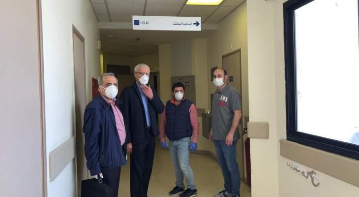 وفد هندسي من مجلس الانماء والاعمار جال في مستشفى صيدا الحكومي