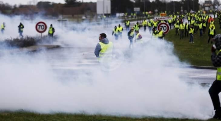 """""""السترات الصفراء"""" تدعو للتظاهر فى مدينتى ليون ونانت بدلا من باريس"""