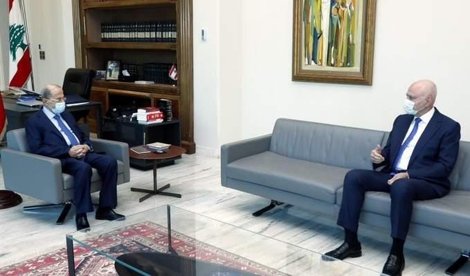 الرئيس عون التقى النائب بانو وعرض معه الأوضاع السياسية العامة