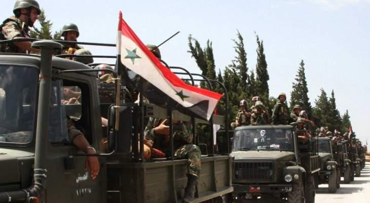 الجيش السوري يسيطر على وادي محمود قرب الحدود السورية الأردنية