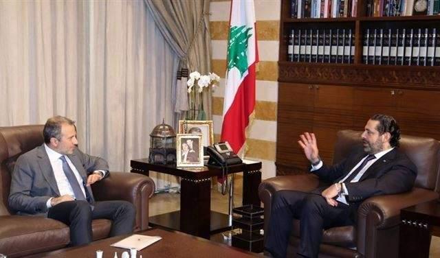 مصادر للشرق الأوسط: لقاء الحريري- باسيل لم يكن سلبيا وحرّك الورقة الحكومية بشقّيها