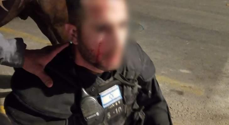 إصابة شرطي إسرائيلي في مواجهات مع شبان فلسطينيين في القدس