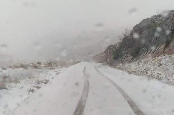 النشرة: طقس عاصف وتساقط للثلوج في منطقة حاصبيا