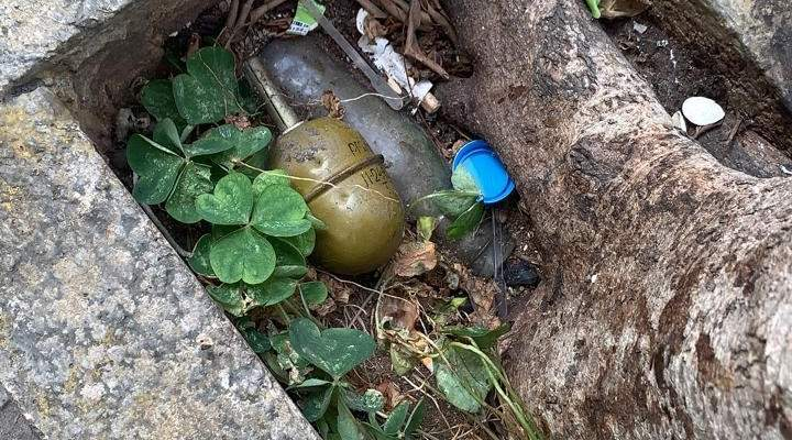 قوى الامن: العثور على قنبلة يدوية حربية في منطقة طريق الجديدة وسيتم تفجيرها بمكانها