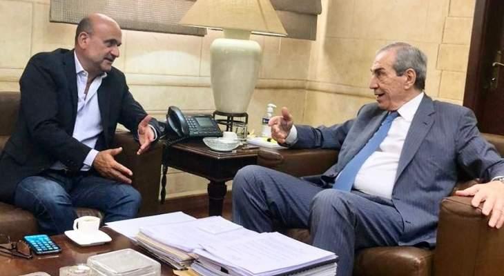 ابي رميا يبحث مع رئيس مجلس الانماء والاعمار في مشاريع قضاء جبيل