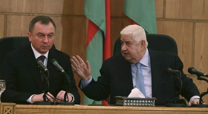 خارجية بيلاروسيا: سنواصل تقديم المساعدة الإنسانية لسوريا