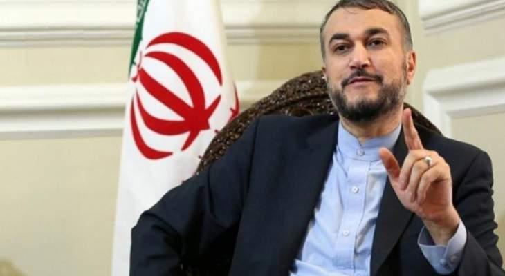 عبداللهيان: حزب الله مستعد للرد على أي حركة تهدف لزيادة العدوان من اسرائيل ضد لبنان