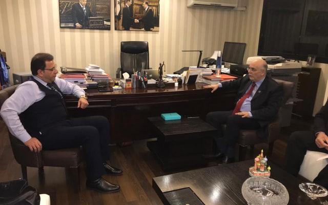 هيثم ابو سعيد يلتقي رئيس وفد السوري المفاوض في جنيف