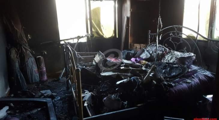 الدفاع المدني: حريق داخل شقة في جسر الباشا