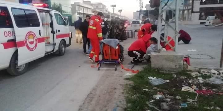 اليازا: جريحان نتيجة انقلاب شاحنة على طريق عام المرج
