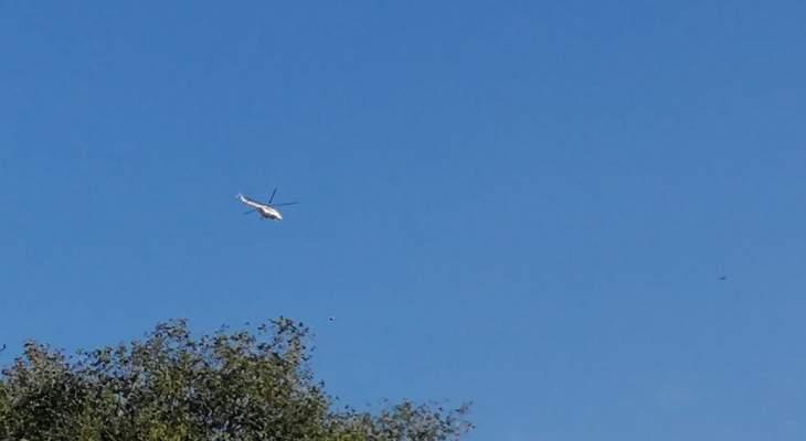 النشرة: مروحية تابعة لقوات اليونيفيل تحلق فوق الخط الأزرق بالقطاع الشرقي من جنوب لبنان