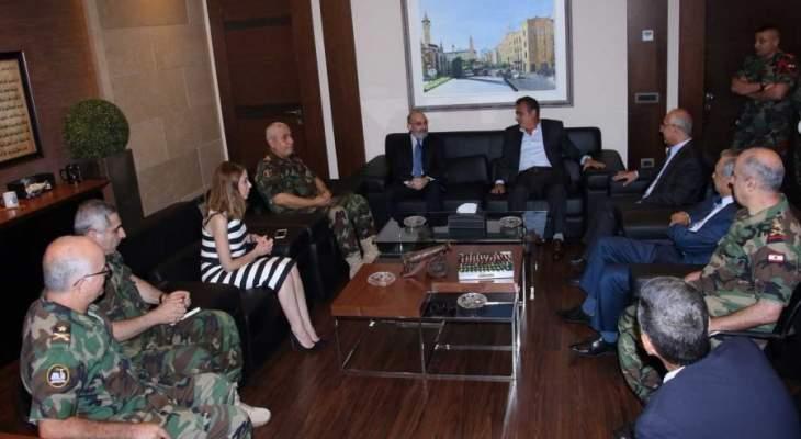 الصراف وعد بمتابعة احتياجات المحكمة العسكرية مع قيادة الجيش