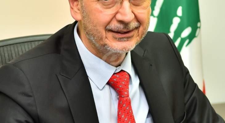 وزير الإقتصاد: دعمنا المواد الأولية الصناعية الداخلة في صناعة الفوط الصحية