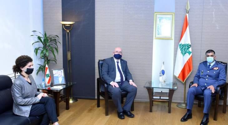 المدير العام لقوى الأمن الداخلي عرض الاوضاع العامة مع القائم باعمال السفارة البريطانية