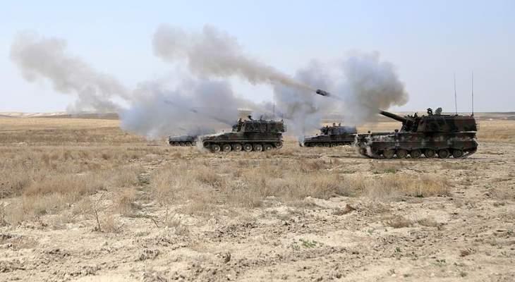 المرصد السوري: قصف متبادل بين القوات التركية والقوات الكردية في ريف حلب الشمالي