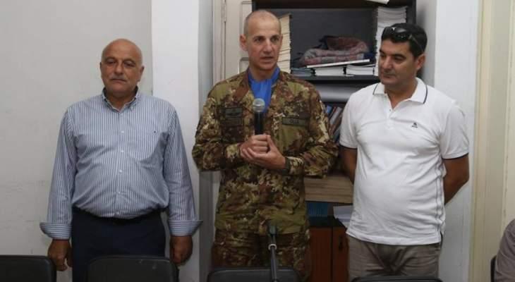 قائد القطاع الغربي لليونيفيل شدد على التزام اليونيفيل بتطبيق القرار 1701
