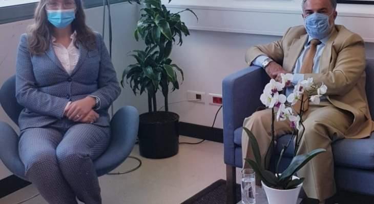 سفيرة الدانمارك التقت عميد الخارجية بالحزب السوري: نقف إلى جانب لبنان واستقراره