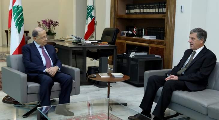 الرئيس عون التقى السفير اليوناني بزيارة وداعية مع انتهاء مهامه في لبنان
