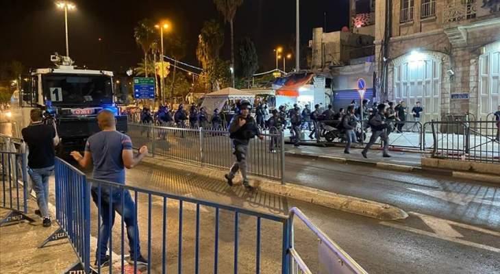 إصابة 4 فلسطينيين خلال موجهات مع قوات إسرائيلية بالقدس ليلا