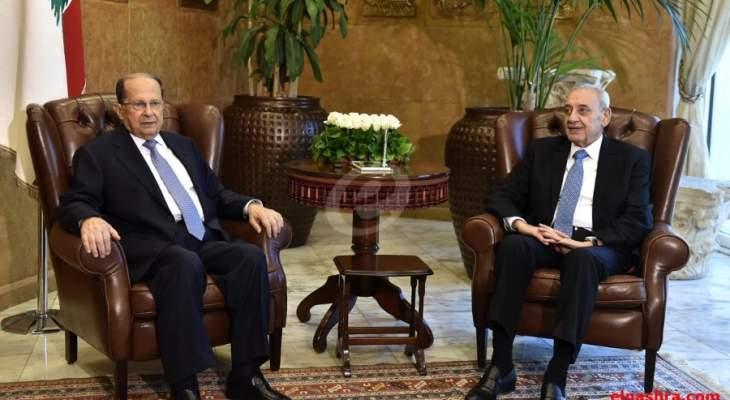 مصادر LBC: إتفاق بين عون وبري لارسال الموازنة الى مجلس النواب قبل 22 الحالي