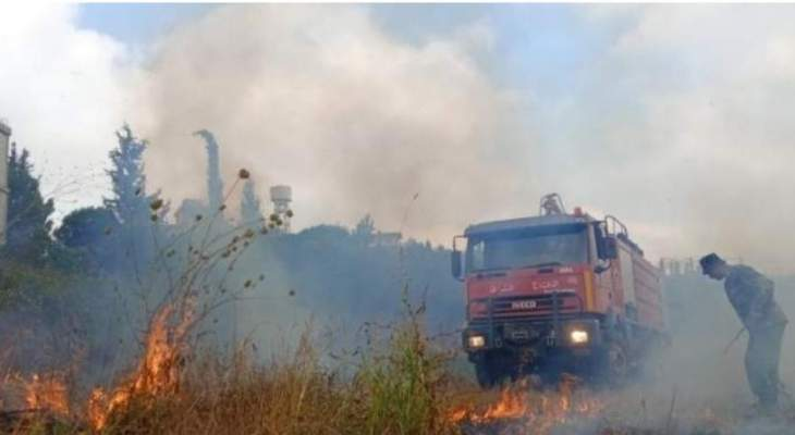 النشرة: إخماد حريق أعشاب يابسة وأشجار في خراج بلدة الفرديس