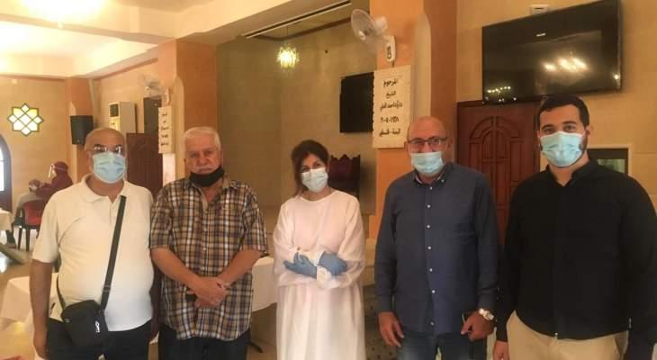 اجراء فحوصات prc بمنطقة وادي الزينة بالتعاون مع قسم الصحة في الاونروا