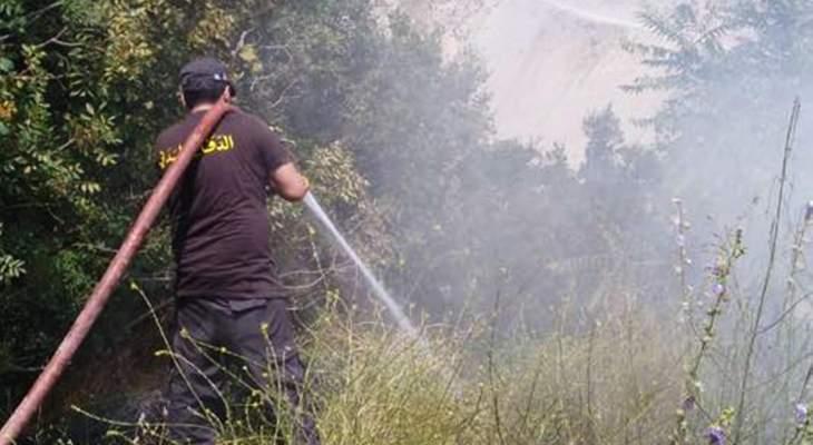 إخماد حريق حصيد من القمح في جب جنين وحريق مكب للنفايات في عجلتون
