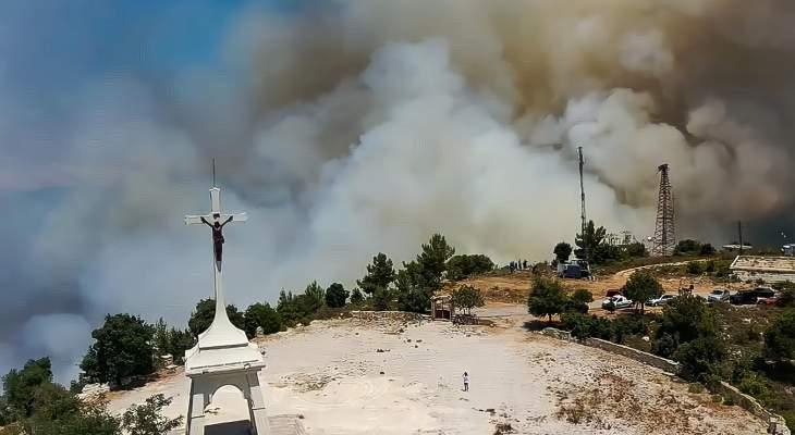 حريق كبير في أحراج دير القمر وكفرقطرة والأهالي يناشدون المعنيين التدخل الفوري
