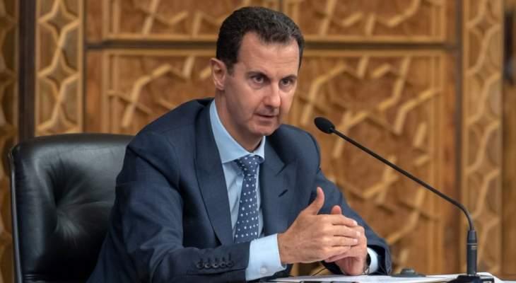 الأسد: التظاهرات في لبنان والعراق لا تشبه ما حصل في سوريا